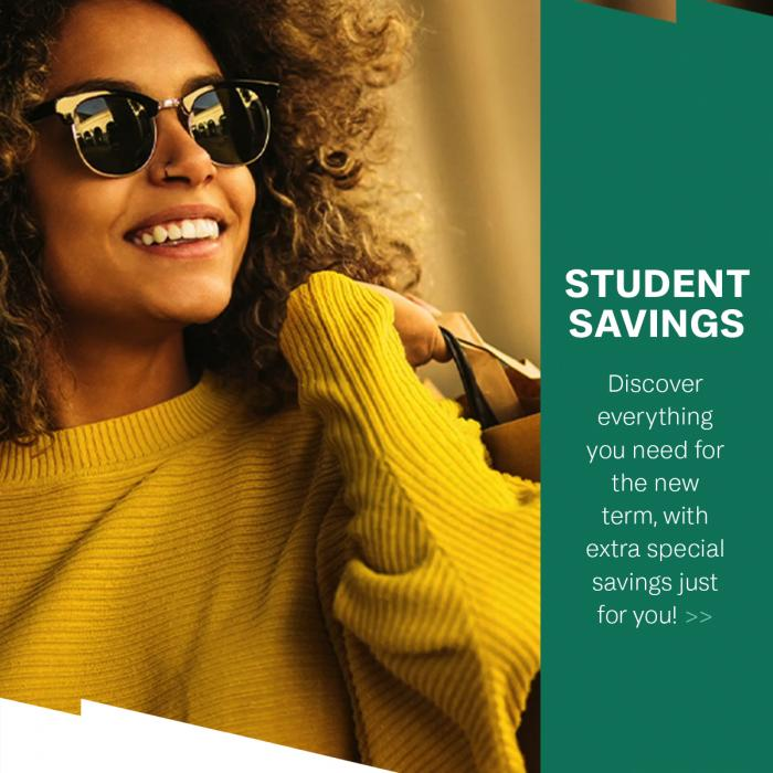 Student Savings at Clarks Village