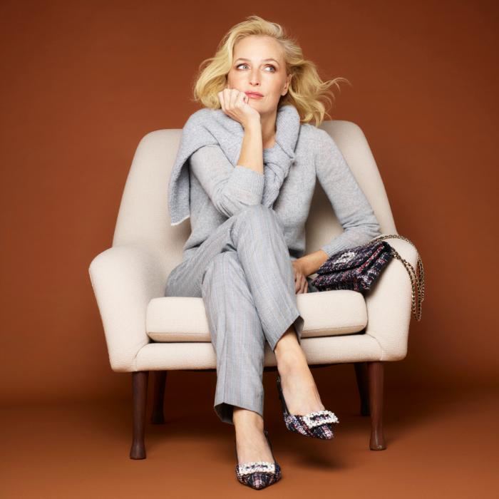 Gillian Anderson styles Dune London AW20